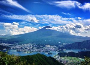 「黒岳から望む富士」